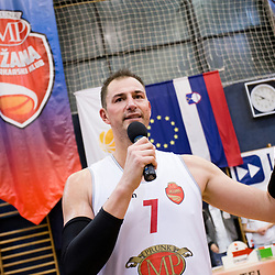 20180120: SLO, Basketball - KK Mesarija Prunk Sezana vs Plama Pur and Primoz Brezec's retirement