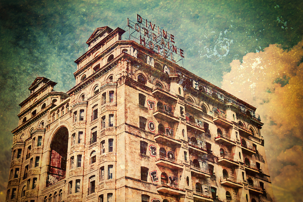 The Divine Lorraine Hotel, also known as the Lorraine Apartments, stands at the corner of Broad Street and Fairmount Avenue in North Philadelphia, Pennsylvania. Designed by architect Willis G. Hale and built between 1892 and 1894, the building originally functioned as apartments, housing some of Philadelphia's wealthy residents. Lorraine Apartments was one of the most luxurious and best preserved late 19th-century apartment houses in Philadelphia. In 1900 the building became the Lorraine Hotel when the Metropolitan Hotel Company purchased the apartments. Later it would become the first hotel in Philadelphia to be racially integrated under Father Divine.<br />