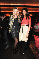 Left to right, BECKY CORBIN-MURRAY and SOLONI LODHA at a party to re-launch Downstairs at Momos, Momos, Heddon Street, London on 22nd February 2010.