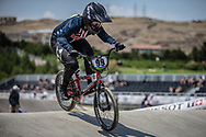 Women Elite #99 (GEORGE Danielle) USA at the 2018 UCI BMX World Championships in Baku, Azerbaijan.