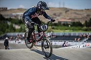 Women Elite #99 (GEORGE Danielle) USA at the 2018 UCI BMX World Championships in Baku, Azerbaijan.