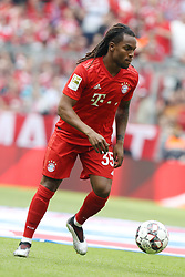 18.05.2019, Allianz Arena, Muenchen, GER, 1. FBL, FC Bayern Muenchen vs Eintracht Frankfurt, 34. Runde, Meisterfeier nach Spielende, im Bild Renato Sanches Aktion // during the celebration after winning the championship of German Bundesliga season 2018/2019. Allianz Arena in Munich, Germany on 2019/05/18. EXPA Pictures © 2019, PhotoCredit: EXPA/ SM<br /> <br /> *****ATTENTION - OUT of GER*****