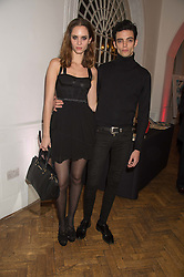 IGGY RATHMANN and CAROLINE BALLESTEROS at a gala dinner to celebrate 15 Years of mothers2mothers hosted by Annie Lennox held at One Marylebone, 1 Marylebone Road, London NW1on 3rd November 2015.