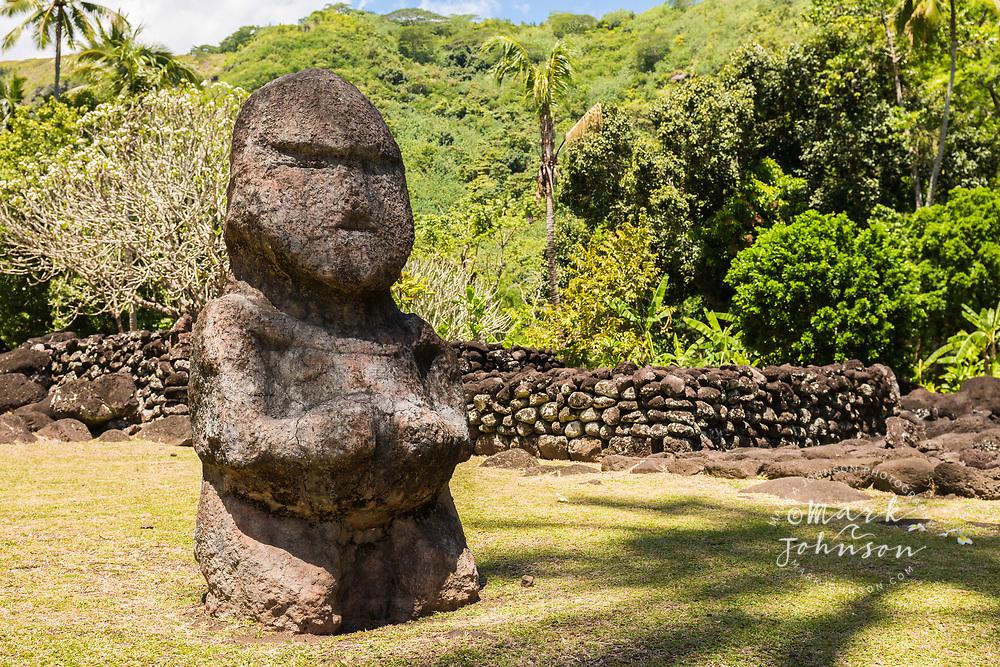 Ti'i, Marae Arahurahu, Tahiti, French Polynesia