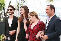 Pierre Niney, Charlotte Le Bon, Marilou Berry and Gilles Lellouche at the Inside Out film photo call at the 68th Cannes Film Festival Monday May 18th 2015, Cannes, France.