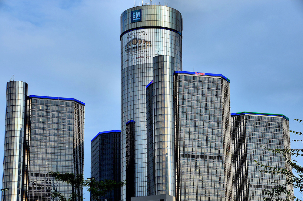 Renaissance Center And General Motors Headquarters In