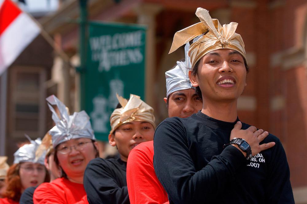 1824825th Annual International Street Fair.Virak Kruy, leading..Indonesian Student Association...Farid Muttaqin(front)