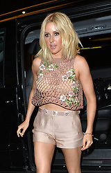 Ellie Goulding wearing shorts and a see throug mesh top at Annabells in Mayfair with boyfriend Dougie Poynter London. UK. 13/05/2015<br />BYLINE MUST READ : GOTCHAIMAGES.COM<br /><br />Copyright by © Gotcha Images Ltd. All rights reserved.<br />Usage of this image is conditional upon the acceptance <br />of Gotcha Images Ltd, terms and conditions available at<br />www.gotchaimages.com