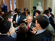Dec 20, 2010 - Washington, District of Columbia, U.S. -  Senator BOB CORKER (R-TN) speaks to the media following a closed Senate session to discuss some of the classified details of the New START treaty which is being debated in the Senate. Corker told reporters that the treaty would have his vote. (Credit Image: © Pete Marovich/ZUMA Press)