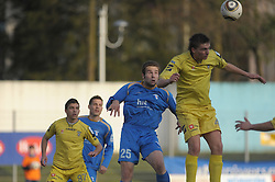 Ivan Brecevic of Gorica, Jovan Vidovic and Tadej Apatic (87) of Domzale at football match of 30th Round of 1st Slovenian League between NK Hit Gorica and Domzale, on April 10, 2010, in Sportni park, Nova Gorica, Slovenia. (Photo by Foto Forma/ Sportida)