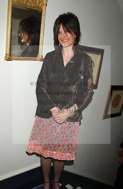 EMMA HOPE at a Conservative Party Reception for the Art held at 24 Thurloe Square, Lndon SW7 on 5th April 2005.<br />