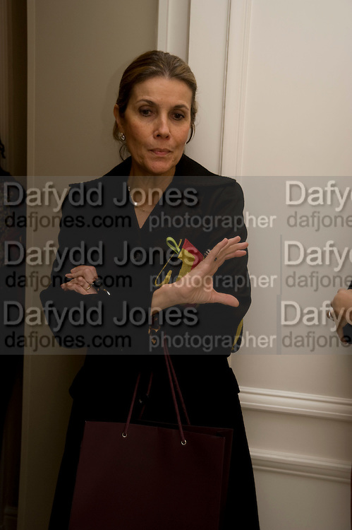 HAYAT PALUMBO;  Zaha Hadid and Triflow Concepts host the launch of a pioneering new kitchen and bathroom lifestyle. 46 Portland Place. London. 28 January 2009 *** Local Caption *** -DO NOT ARCHIVE-© Copyright Photograph by Dafydd Jones. 248 Clapham Rd. London SW9 0PZ. Tel 0207 820 0771. www.dafjones.com.<br /> HAYAT PALUMBO;  Zaha Hadid and Triflow Concepts host the launch of a pioneering new kitchen and bathroom lifestyle. 46 Portland Place. London. 28 January 2009