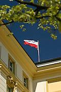 09.05.2006 Warszawa Flagi na Urzad Rady Ministrow Fot. Piotr Gesicki. Prime minister office building Warsaw Poland photo Piotr Gesicki