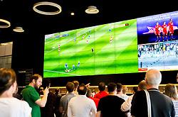 Fans watch Wales vs Slovakia on the big screen in the sports bar and grill at Ashton Gate - Mandatory by-line: Robbie Stephenson/JMP - 11/06/2016 - FOOTBALL - Ashton Gate - Bristol, United Kingdom  - England vs Russia - UEFA Euro 2016