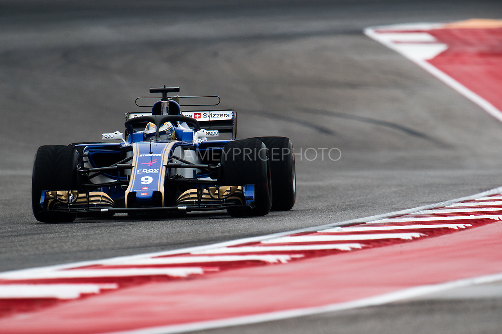 October 19-22, 2017: United States Grand Prix. Marcus Ericsson, Sauber F1 Team, C36, with the halo prototype