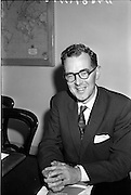 27/07/1962<br /> 07/27/1962<br /> 27 July 1962<br /> Aer Lingus- Irish International Airlines AGM, press conference at General Manager's Office, O'Connell Street, Dublin. Picture shows Mr P.J. Brennan, Secretary, Aer Lingus - Irish International Airlines.