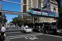 Monorail at George and Pitt, Sydney, Australia.