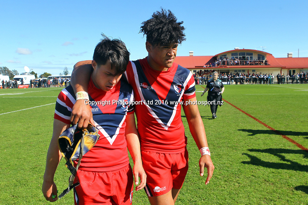 Premiership Final, Southern Cross Campus v Kelston Boys High, Finals day of the National Secondary Schools Rugby League Tournament at Bruce Pulman Park, Auckland, 2 September 2016. Copyright Photo: William Booth / www.photosport.nz
