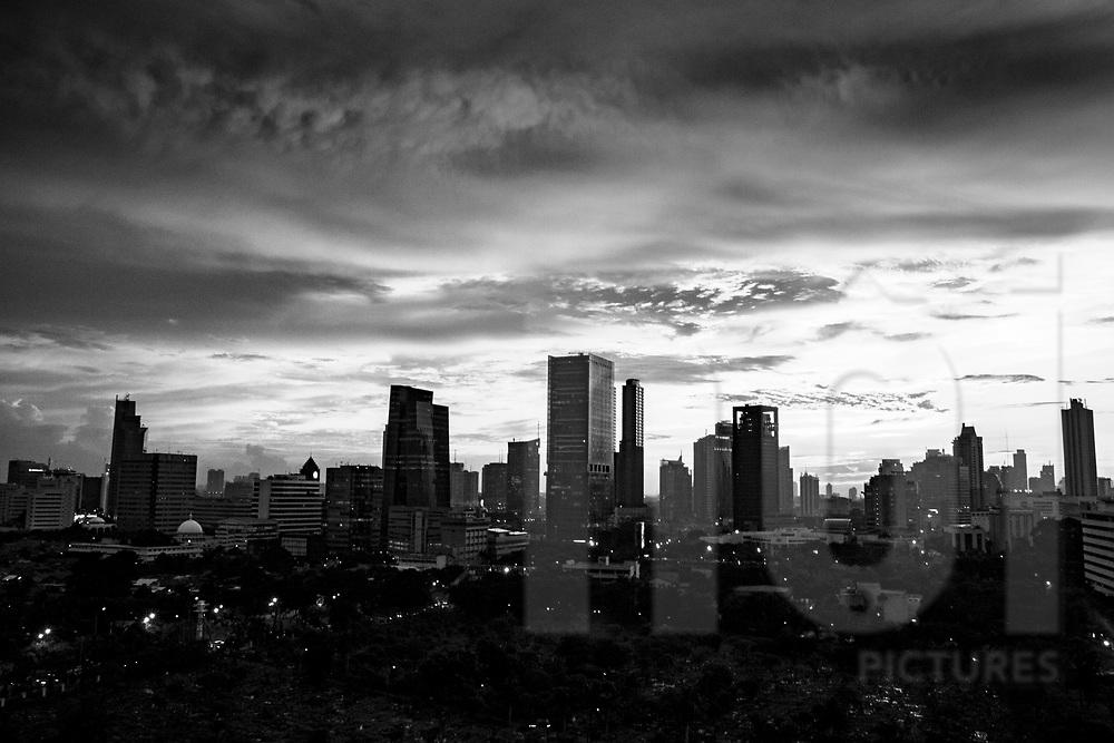 Skyline of Jakarta, Indonesia, Southeast Asia