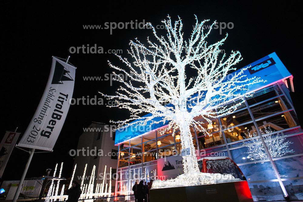 03.02.2013, Tirolberg, Schladming, AUT, FIS Weltmeisterschaften Ski Alpin, Super Bowl Party, im Bild Feature Aussenansicht // Exterior feature at the Super Bowl Party during FIS Ski World Championships 2013 at the Tirolberg, Schladming, Austria on 2013/02/03. EXPA Pictures © 2013, PhotoCredit: EXPA/ Johann Groder