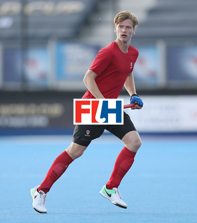 LONDON, ENGLAND - JUNE 16:  Foris Van Son of Canada during the Hero Hockey World League semi final match between Pakistan and Canada at Lee Valley Hockey and Tennis Centre on June 16, 2017 in London, England.  (Photo by Alex Morton/Getty Images)