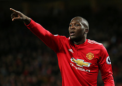 Romelu Lukaku of Manchester United points - Mandatory by-line: Matt McNulty/JMP - 18/11/2017 - FOOTBALL - Old Trafford - Manchester, England - Manchester United v Newcastle United - Premier League