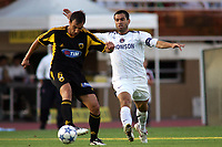 Fotball<br /> Foto: imago/Digitalsport<br /> NORWAY ONLY<br /> <br /> 21.07.2005  <br /> <br /> Georgios Alexopoulos (AEK Athen, li.) gegen Pauleta (Paris St. Germain)