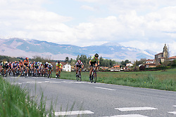 Parkhotel Valkenburg lead the chase of lone leader, Lobigs - Emakumeen Bira 2016 Stage 2 - A 109 km road stage from Extarri Arantz to Urkiola, Spain on 15th April 2016.