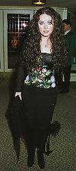 Singer SARAH BRIGHTMAN, at a dinner in London on 23rd February 1999.MOR 77