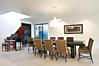 Contemporary dining room in modern mansion