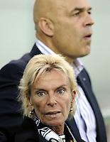 Basels Trainer Christian Grosss mit Praesidentin Gigi Oehri © Melanie Duchene/EQ Images
