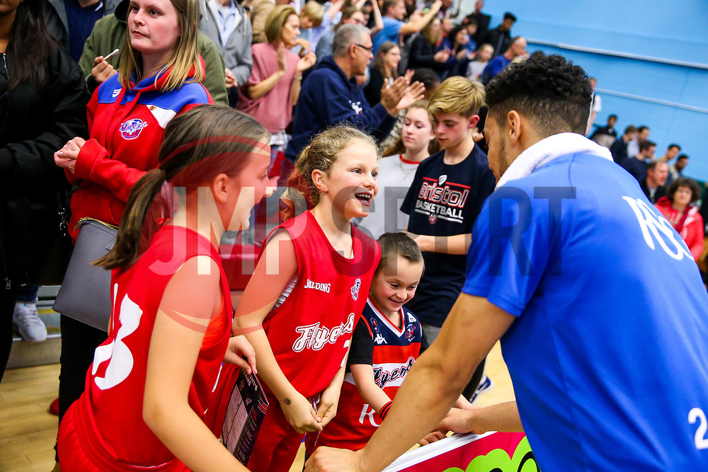 Bristol Flyers fans - Rogan/JMP - 11/11/2017 - BASKETBALL - SGS Wise Arena - Bristol, England. - Bristol Flyers v Glasgow Rocks - British Basketball League.