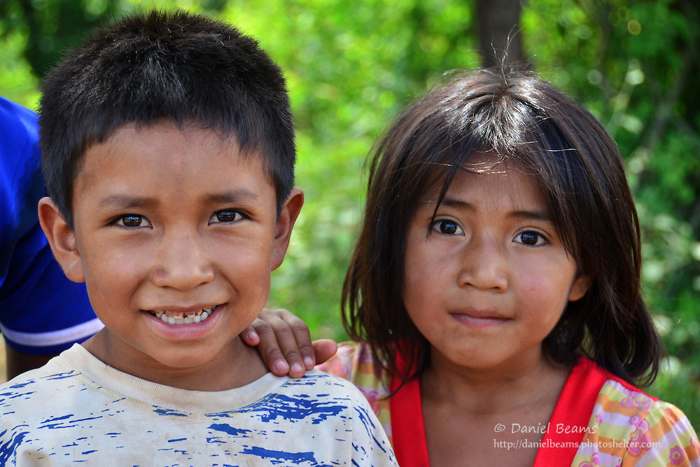 Guarani children in Pirirenda, Gutierrez, Santa Cruz, Bolivia