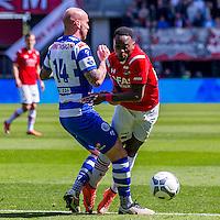 ALKMAAR - 01-05-2016, AZ - de Graafschap, AFAS Stadion, 4-1, De Graafschap speler Bryan Smeets veroorzaakt een penalty, AZ speler Ridgeciano Haps