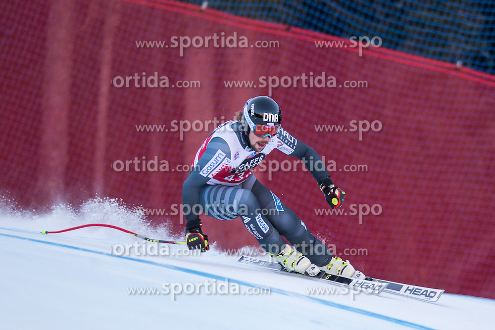 29.12.2015, Deborah Compagnoni Rennstrecke, Santa Caterina, ITA, FIS Ski Weltcup, Santa Caterina, Abfahrt, Herren, im Bild Andreas Romar (FIN) // Andreas Romar of Finland in action during the men's Downhill of the Santa Caterina FIS Ski Alpine World Cup at the Deborah Compagnoni Course in Santa Caterina, Italy on 2015/12/29. EXPA Pictures © 2015, PhotoCredit: EXPA/ Johann Groder