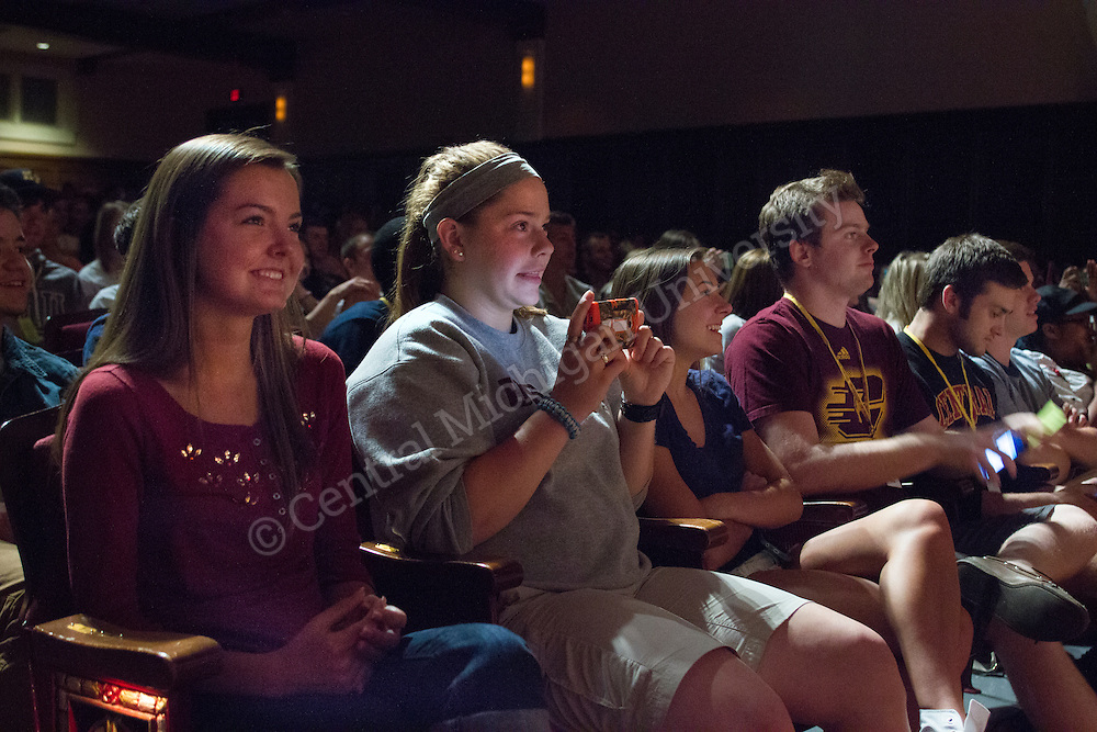 Incoming freshman attend orientation on June 5, 2014 on the campus of Central Michigan University.