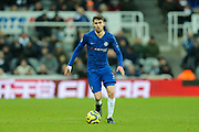 Jorginho (#5) of Chelsea on the ball during the Premier League match between Newcastle United and Chelsea at St. James's Park, Newcastle, England on 18 January 2020.