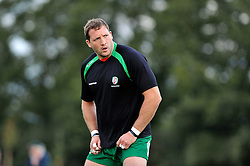 George Skivington looks on during the pre-match warm-up - Photo mandatory by-line: Patrick Khachfe/JMP - Mobile: 07966 386802 22/08/2014 - SPORT - RUGBY UNION - Middlesex - Hazelwood - London Irish v Bristol Rugby - Pre-Season Friendly