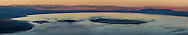 Panorama overlooking Mono Lake at sunset; Mono County; Eastern Sierra; California