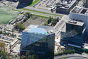 Nederland, Noord-Holland, Amsterdam, 09-04-2014; Zuid-as, nieuw gebouw OVC real estate (in opdracht van Deloitte). Deel van het ACTA gebouw (onder campus VU).<br /> Amsterdam equivalent of 'the City', financial district. <br /> luchtfoto (toeslag op standard tarieven);<br /> aerial photo (additional fee required);<br /> copyright foto/photo Siebe Swart