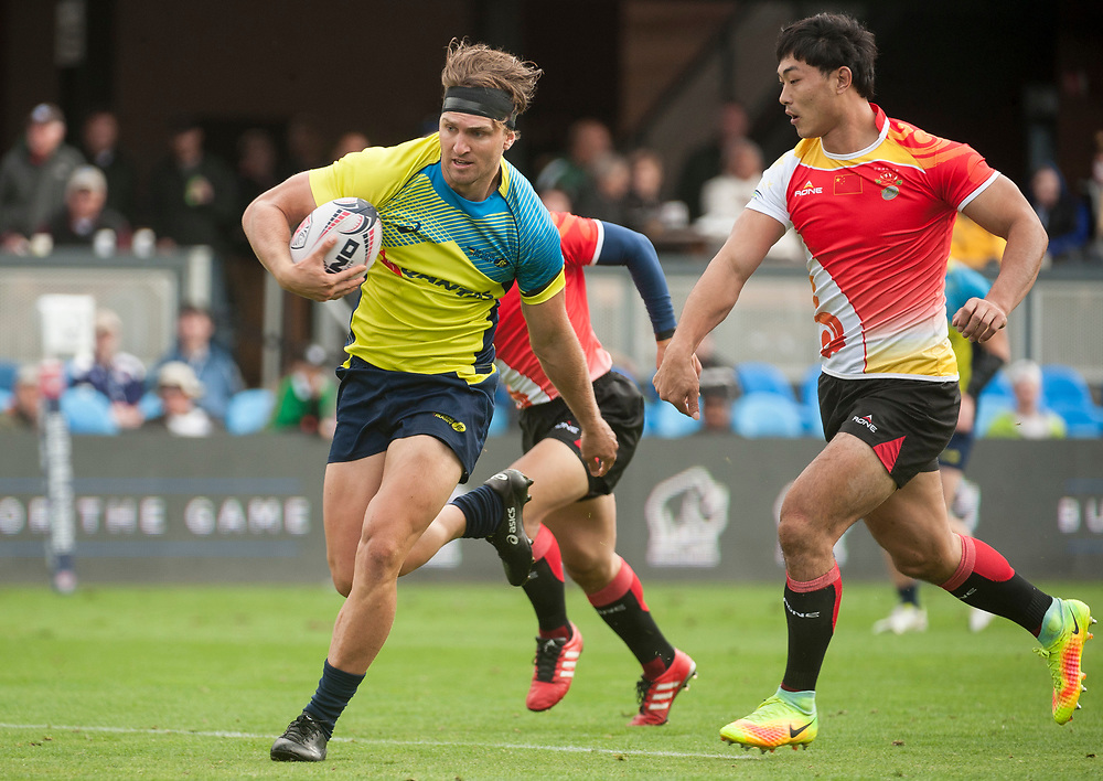 Australia play the China at the Silicon Valley Sevens in San Jose, California. November 4, 2017. <br /> <br /> By Jack Megaw.<br /> <br /> AUSCHN<br /> <br /> <br /> <br /> www.jackmegaw.com<br /> <br /> jack@jackmegaw.com<br /> @jackmegawphoto<br /> [US] +1 610.764.3094<br /> [UK] +44 07481 764811