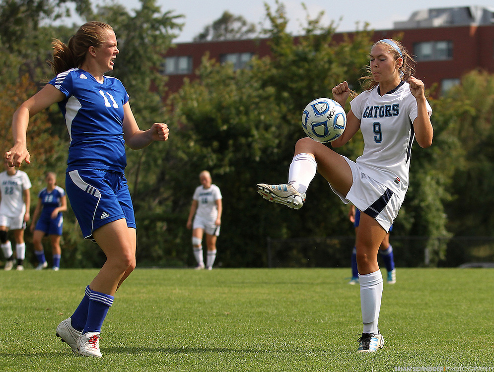 September 22, 2012; Baltimore, MD, USA; Notre Dame Gators soccer team competes against Baptist Bible College on campus in Baltimore, MD. Mandatory Credit: Brian Schneider-www.ebrianschneider.com