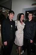 TRISHA SIMONON AND HER SONS, If Hitler Had Been a Hippy How Happy Would We Be', Exhibition of work by the Chapman brothers. White Cube. Mason's Yard. London. 29 May 2008.  *** Local Caption *** -DO NOT ARCHIVE-© Copyright Photograph by Dafydd Jones. 248 Clapham Rd. London SW9 0PZ. Tel 0207 820 0771. www.dafjones.com.