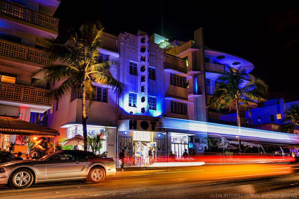 Ocean Drive featuring the Congress Hotel