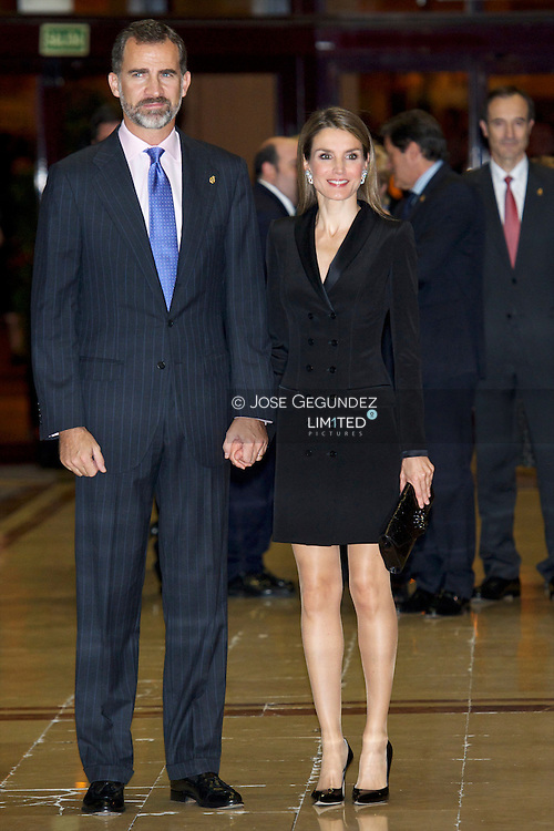 Prince Felipe of Spain and Princess Letizia of Spain attend '22th Musical Week' closing concert at the Auditorio Principe Felipe during the 'Prince of Asturias Awards 2013' on October 24, 2013 in Oviedo, Spain.