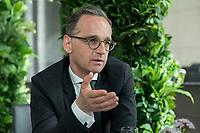 15 MAY 2019, BERLIN/GERMANY:<br /> Heiko Maas, SPD, Bundesaussenminister, waehrend einem Interview, Restaurant des Deutschen Bundestages, Reichstagsgebaeude<br /> IMAGE: 20190515-01-010