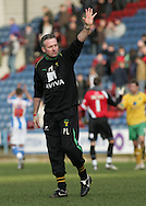 Huddersfield - Saturday, March 13th, 2010: Paul Lambert, manager of Norwich City salutes the Norwich fans after the match against Huddersfield Town in the Coca Cola League One match at the Galpharm Stadium, Huddersfield. (Pic by Michael Sedgwick/Focus Images)