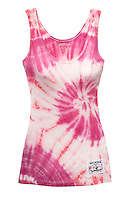 True Religion pink tie dye tank top on white background