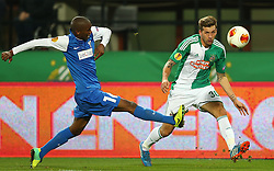 07.11.2013, Ernst Happel Stadion, Wien, AUT, UEFA Europa League, SK Rapid Wien vs KRC Genk, Gruppe G, im Bild Anele Ngongca, (KRC Genk, #16) und Guido Burgstaller, (SK Rapid Wien, #30) // during a UEFA Europa League group G game between SK Rapid Vienna and KRC Genk at the Ernst Happel Stadion, Wien, Austria on 2013/11/07. EXPA Pictures © 2013, PhotoCredit: EXPA/ Thomas Haumer