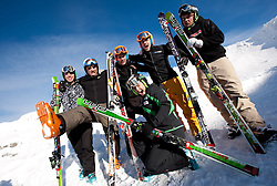 Slovenian Ski Cross National team at training camp on November 25, 2010 in Moelltal, Austria. (Photo By Vid Ponikvar / Sportida.com)